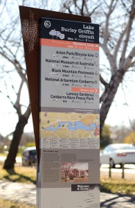 New signs at Lake Burley Griffin
