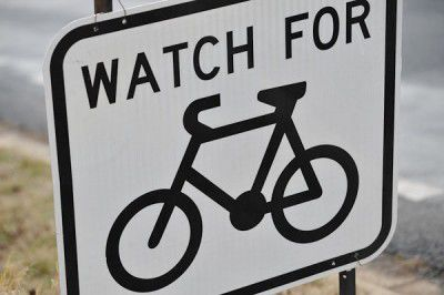 sign, road, bike, cyclist