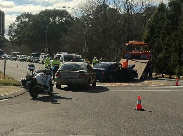 Collision on Northbourne Avenue, Downer. Photo by Silas Brown