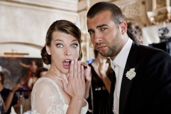 """Milla Jovovich and Ivan Urgant in """"Lucky Trouble""""."""