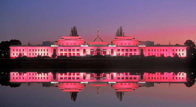 Pictures of old parliament house canberra