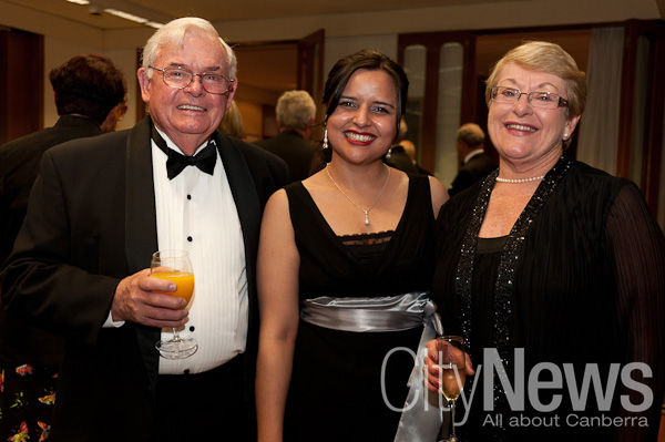 Peter Collins, Sarwat Meqbool and Janice Beazley