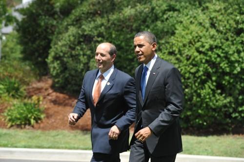 American ambassador Jeffrey Bleich with US President Barack Obama.