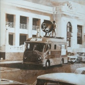 First outside broadcast van at Old Parliament House, 1967.