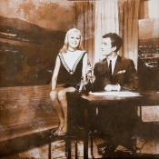 """""""Tonight in Canberra"""" compere David Brice with guest star Little Pattie, 1965."""
