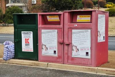Charity bins