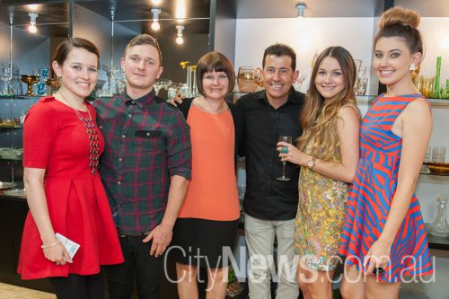 Andrea Pitsilos, Alex Hogg with Sharyn, Dion, Taylor and Daniella Pitsilos
