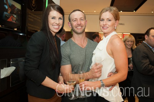 Rhiannon McClell with Nick and Sonya Georgalis