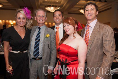 Sarah Robinson, Colin Skelton, Luke and Stephanie Matthews and Johnny Folino