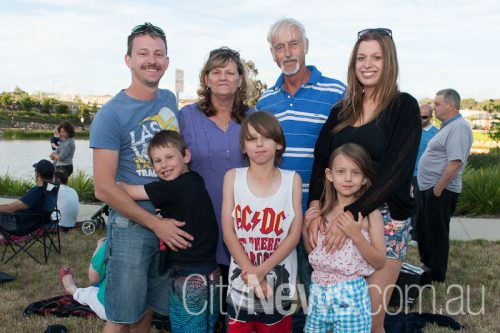 Anthony, Anne, Peter, Jackson, Tyler, Kayla McDougall and Rebecca Russell