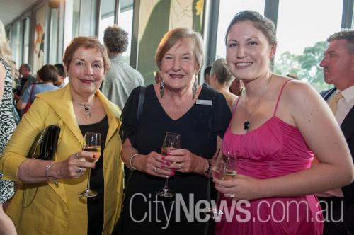 Carmen Luddy, Ros Jaclson and Susannah Luddy