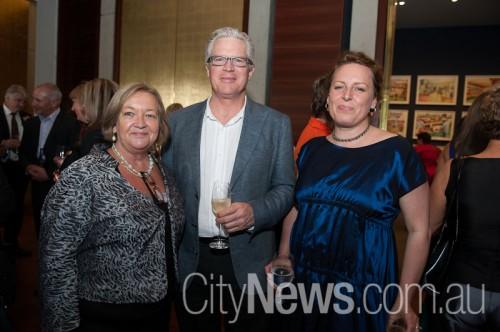 Joy Burch MLA, Nat Williams and Erica Seccomde
