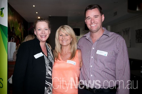 Kylie Watson with Danielle and Jason Devenport