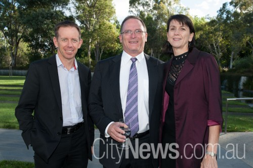 Shane Rattenbury MLA with Glenn and Amelda Keys