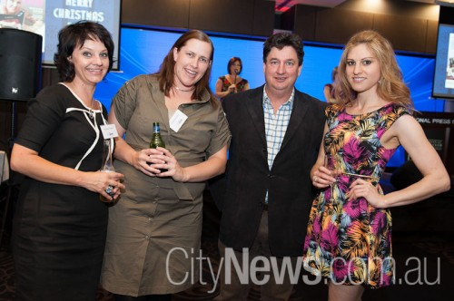Suzana and Kristine Evans with Tim Gavel and Samara Purnell