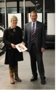 Sharon Field with Queanbeyan mayor Tim Overall