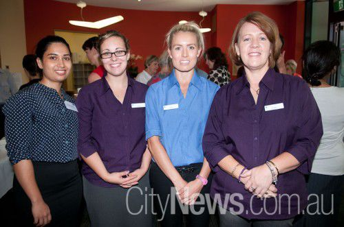 Dr Shilpa Dahal, Kylee Hjorth, Hallie Butcher and Bridget Agerbeek