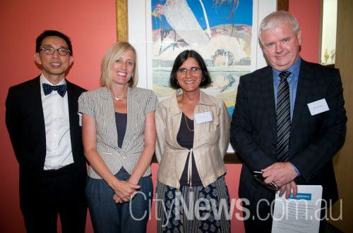 Host Dr Tuck Meng Soo with Chief Minister Katy Gallagher, Dr Rashmi Sharma and Mark Cormack SNB_9544