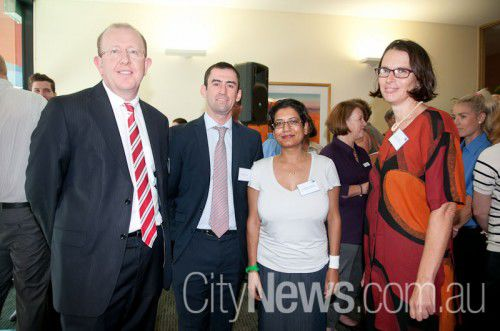 Stephen Byron, Richard Snow, Dr Rashmi Pandey and Dr Liz Fraser
