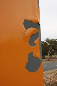 The peeling Tuggeranong bridge
