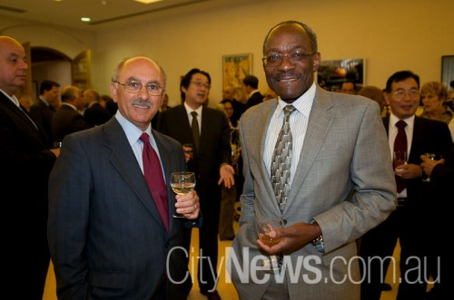 Ali Kazak with Ghana high commissioner Paul Yaw Essel