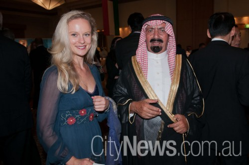 Jessica Swann with Saud Anafai abu Mohomad