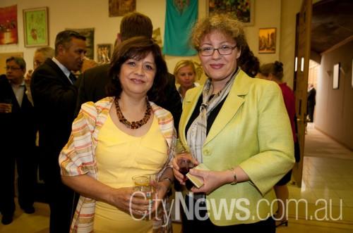 Mexican Ambassador Beatriz Lopez Gargallo with Serbian ambassador Neda Maletic
