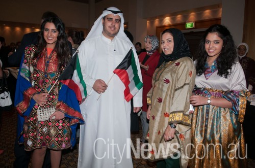 Norah Alathari, Dhary Almousa with Aisha and Shouq Alathari