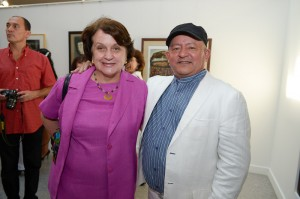 Colombian Ambassador Clemencia Forero and Nelson Dominguez