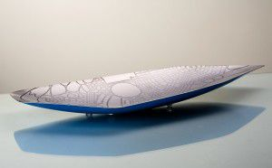 """The """"Griffin Blueprint Dish"""" designed by Mitchell Brooks and Dan Lorrimer. Photo by Art Artelier Photography."""