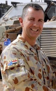 Hanson serving in Iraq.