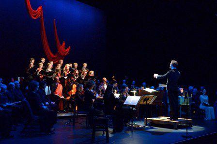 Brett Weymark conducting Theodora. Photo by Peter Hislop