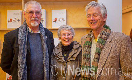 Robert Fletcher with Elizabeth and Michael Taverner