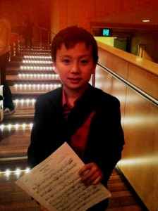 Ovation for 10 year old flutist Nikolai Song from Singapore
