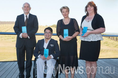 ACT nominees, from left, Graham Walker, Huy Nguyen, Associate Prof Zsuzsoka Kecskes and Trish Mowbray.