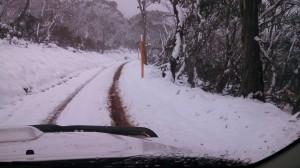 Snow at Mount Franklin