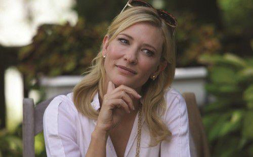 "Cate Blanchett... star of Woody Allen's ""Blue Jasmine""."