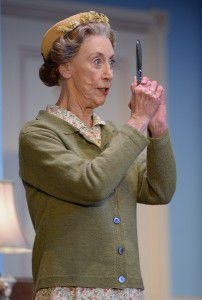 "Judi Farr in the role of Miss Marple… ""A genteel lady and something of a busybody, but very clever""."