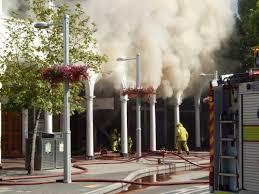 The Sydney Building on fire last Monday.