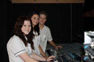 VET students from left Larissa Caston, Alexandra Pilicic and Alex Parker