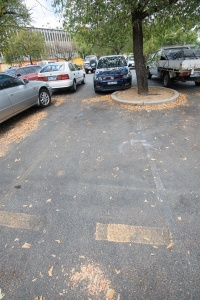 The disabled car park.