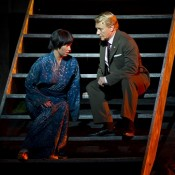 Anna Yun as Suzuki, Michael Honeyman as Sharpless. Photo James Morgan