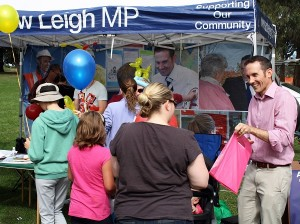 Andrew Leigh MP at a past 'Welcoming the Babies' event.