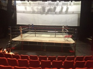 Boxing ring now in Tim Murray Theatre