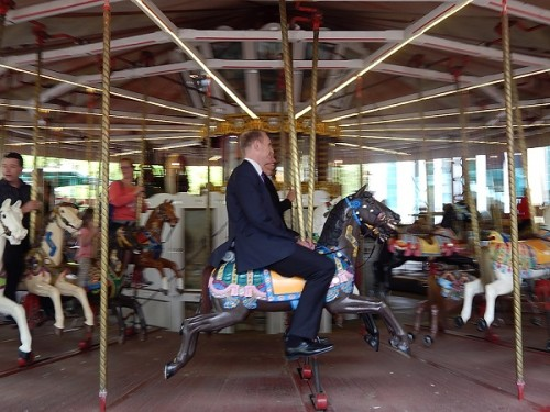 Political spin... Simon Corbell rides the merry-go-round.