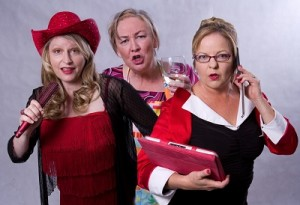 l. to r. Lisa McClelland as Pearl,  Jill Walsh as Beryl and Karen Strahan as  Ruby in the new show.