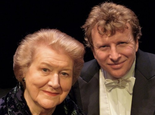 "Patricia Routledge with pianist, Piers Lane… ""Hyacinth has a resonance around the world and I get letters from all over the place… nobody is more surprised than I am."""