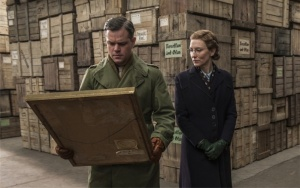 "Matt Damon and Cate Blanchett in ""Monuments Men""."