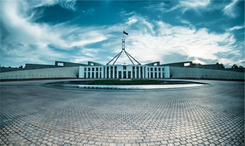Parliament House, January 25, 2014. Photo by Martin Ollman