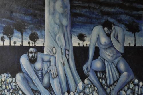 "Detail from ""Nightmare at Cooper Creek"" by Robert Faulkner"